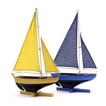 Authentic Models オーセンティックモデルズ/組み立てヨット(3色)