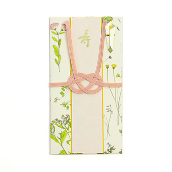 イイダ傘店/祝儀袋 押し花