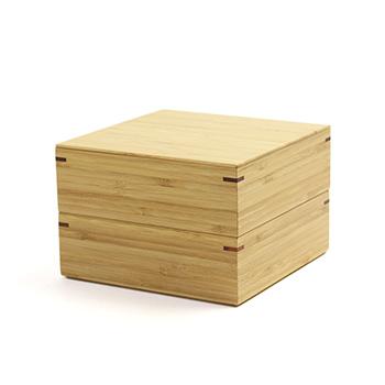 公長齋小菅 こうちょうさいこすが/5寸二段重箱、十字仕切り