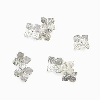 hydrangeas pierced earring 紫陽花 ピアス(シングル 4種)