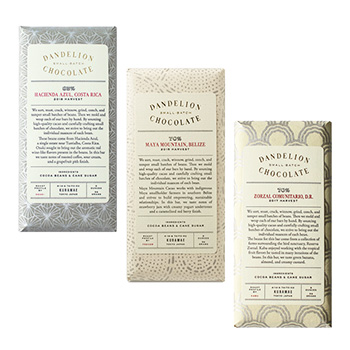 DANDELION CHOCOLATE ダンデライオン・チョコレート/CHOCOLATE BAR チョコレートバー(5種)