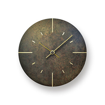 Lemnos レムノス/「Orb」 斑紋黒染色 壁掛け時計(AZ15-07)【受注販売】