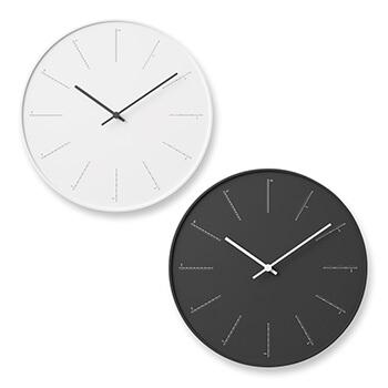 Lemnos レムノス/「divide」 壁掛け時計(NL17-01/2色)