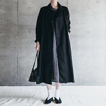 fog linen work フォグ リネンワーク/FAY COAT BLACK フェイ コート ブラック