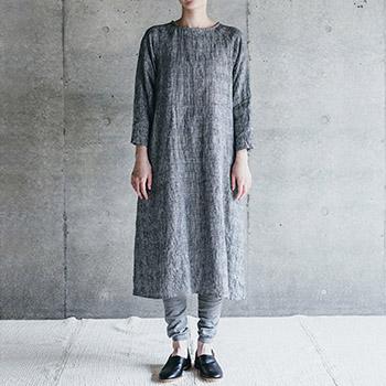 fog linen work フォグ リネンワーク/ANU DRESS GLEN アヌ ワンピース グレン