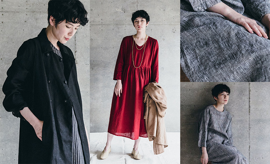 fog linen work フォグ リネンワーク/ANU DRESS GLEN アヌ ワンピース グレンのイメージ画像