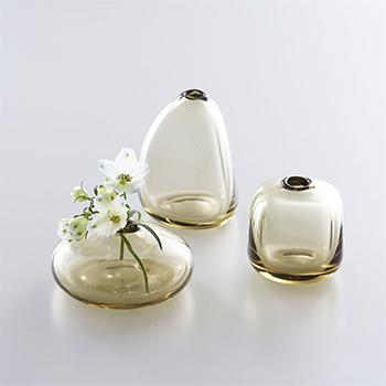 Sghr スガハラ/「mini vase ミニベース」一輪挿し タン(3種)