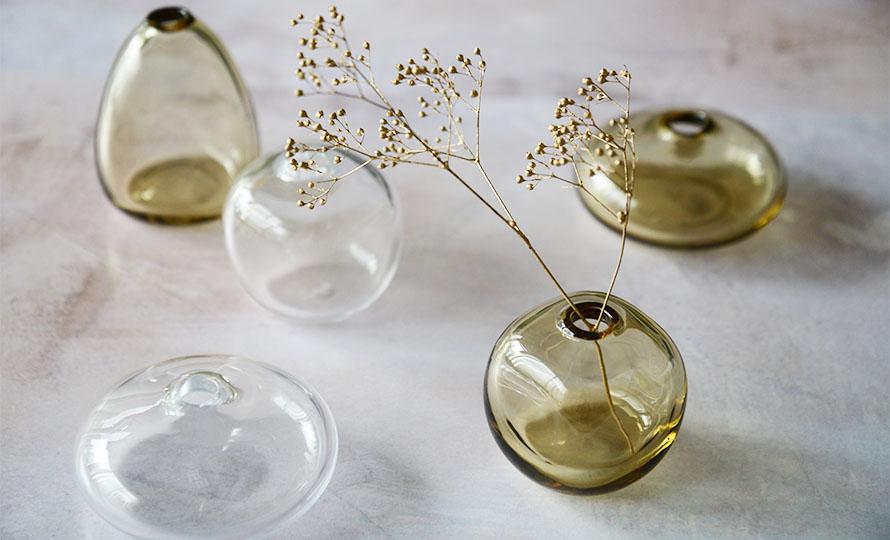 Sghr スガハラ/「mini vase ミニベース」一輪挿し タン(3種)のイメージ画像