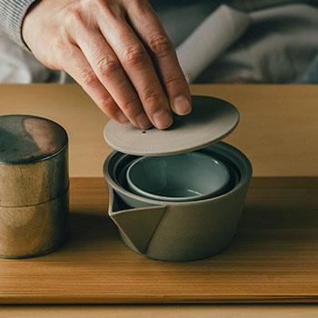 南景製陶園 なんけいせいとうえん/入子茶器(2種)