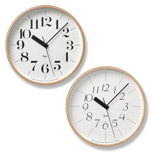 Lemnos レムノス/渡辺力「Riki Clock リキ クロック」電波時計 RC Mサイズ
