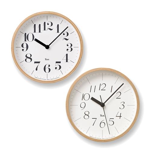 Lemnos レムノス/渡辺力「Riki Clock リキ クロック」壁掛け時計 RC Sサイズ
