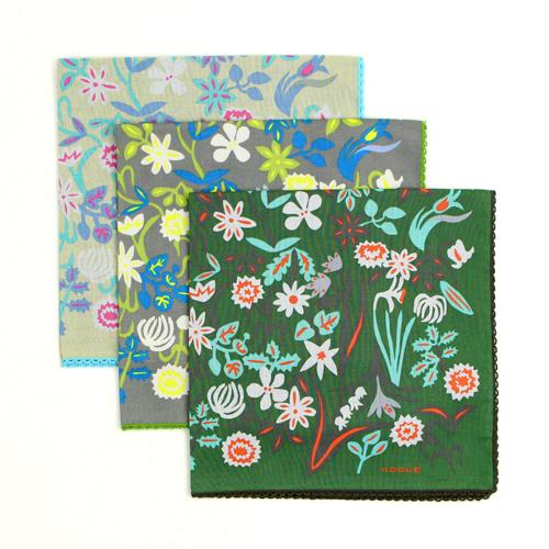 ひびのこづえ/ハンカチ 「春の花」 (3色)