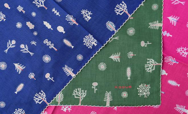 ひびのこづえ/ハンカチ「Tree」(3色)/ハンカチ「Tree」(3色)のイメージ画像