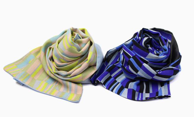 ひびのこづえ/ストール「まばたき」(2色)/ストール「まばたき」(2色)が並んだ画像