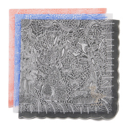 ひびのこづえ/ハンカチ「透明の国」(3色)