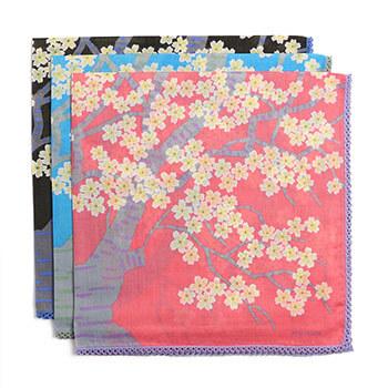 ひびのこづえ/ハンカチ「桜の森の満開の下」(3色)