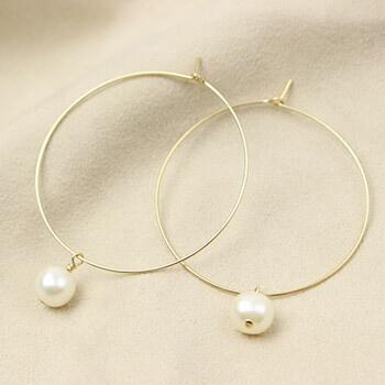 RIVA GOSSI リバ・ゴッシ/ピアス 「CANDY Hoop L Pearl キャンディフープパール」
