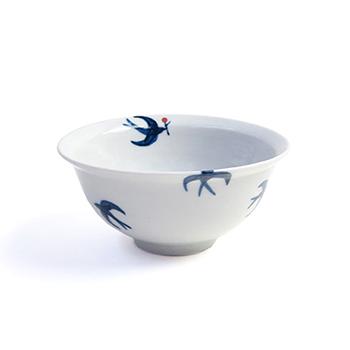 日下華子 くさかはなこ/九谷焼 飯椀 「つばめ」