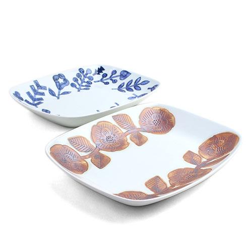 Pebble Ceramic Design Studio 石原亮太/レクタングプレート(フラワー・プランツ)
