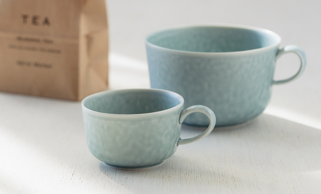 イイホシユミコ yumiko iihoshi porcelain/「ReIRABO リイラボ」cup カップ spring mint green(S・M・L) /「ReIRABO リイラボ」cup カップ spring mint green(S・M・L) のイメージ画像