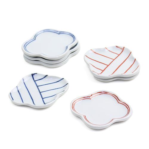 日下華子/九谷焼 モッコ豆皿(4種)