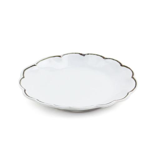 日下華子/九谷焼 だ円皿「ふち鉄線雲形」