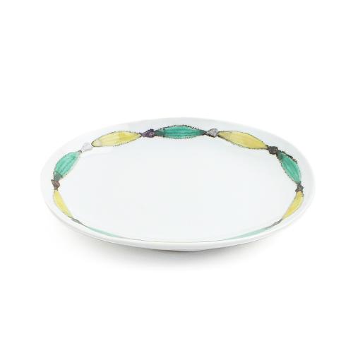 日下華子/九谷焼 だ円皿「色絵魚文」