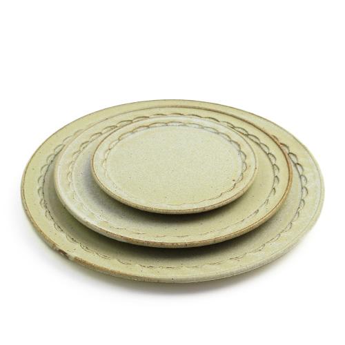 萩原千春(はぎはらちはる)+S/しのぎリムプレート シュガーグリーン(3サイズ)