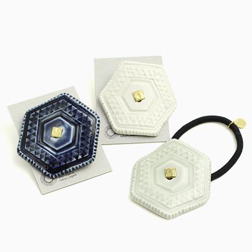 UU ceramic jewelry and objects ウウ セラミックジュエリー アンド オブジェクツ/ヘアゴム 六角(3色)