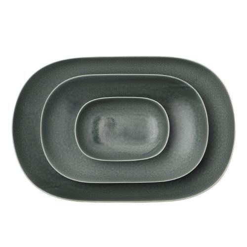 イイホシユミコ yumiko iihoshi porcelain/「ReIRABO リイラボ」oval plate オーバルプレート winter night gray(S・M・L)