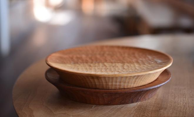 川端健夫 かわばたたけお/木製 スコーンプレート 5寸(チェリー)/木製 スコーンプレート 5寸(チェリー)のイメージ画像
