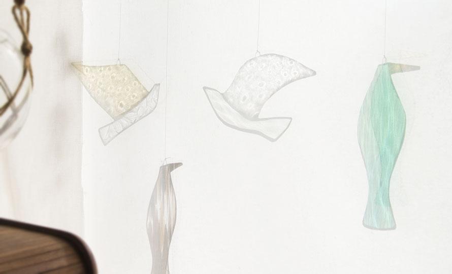 vivo stained glass works ビーボステンドグラス/BIRD FAMOSA バード ファモサ/BIRD FAMOSA バード ファモサ 他BIRDシリーズ作品が並んだ画像
