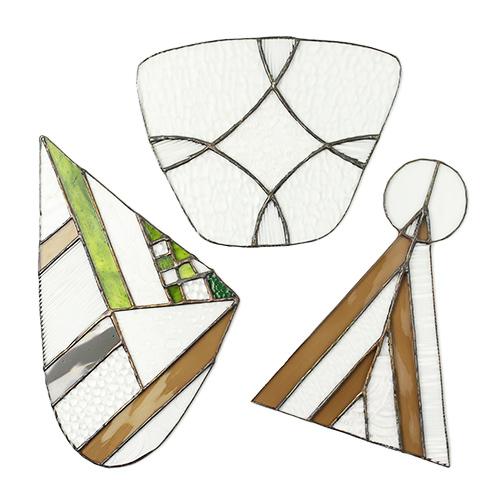 vivo stained glass works ビーボステンドグラス/OBJECT 台座付きオブジェ(3種)
