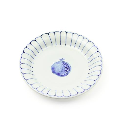 日下華子 くさかはなこ/九谷焼 5寸皿「ざくろ」