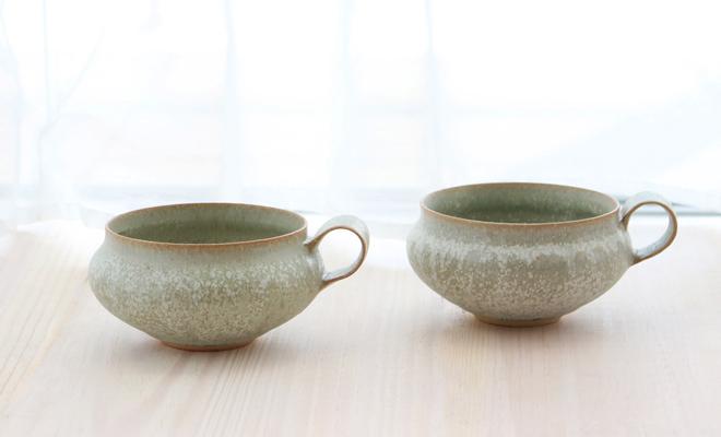 鈴木麻起子 Scintillant サンティヤン shallow cup カップが並んだ画像