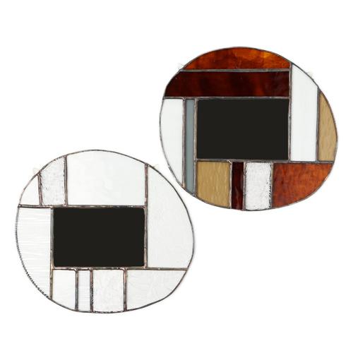 vivo stained glass works ビーボステンドグラス/壁掛ミラー ROUND(2種)