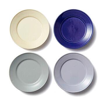 石田誠 いしだまこと/紅毛手 4.3寸リム皿(4色)