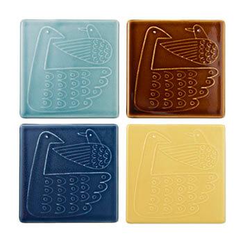 Pebble Ceramic Design Studio 石原亮太/タイル「ネスト」(4色)
