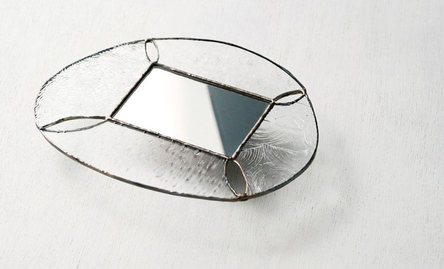 vivo stained glass works ビーボステンドグラス 壁掛ミラー ROUNDのイメージ画像