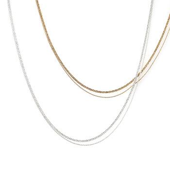 スネークチェーン 2連ネックレス(2種)