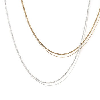 sumikaneko スミカネコ/snake chain double strand necklace スネークチェーン 2連ネックレス(2種)