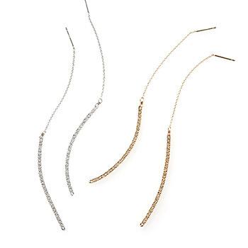 sumikaneko スミカネコ/snake chain pierce スネークチェーン ピアス(2種)