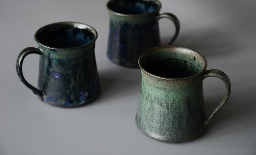 平野日奈子 ひらのひなこ/結晶コバルト モーニングカップのイメージ画像
