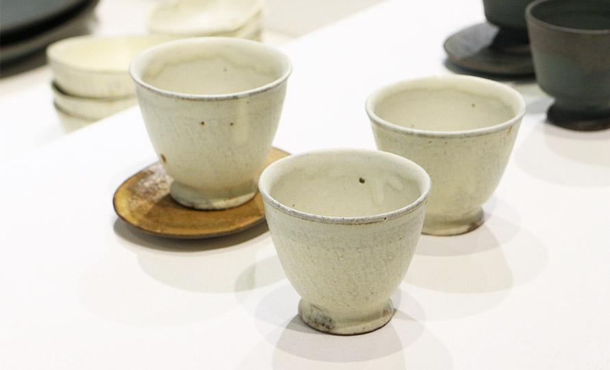 平野日奈子 ひらのひなこ/煎茶 湯呑 粉引のイメージ画像
