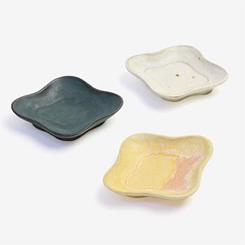 平野日奈子 ひらのひなこ/菱形豆皿(2種)