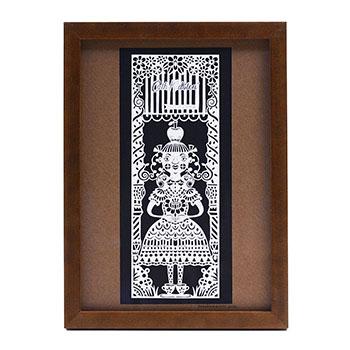 タナカマコト tanakamacoto/切り絵「タダのカミ様」額装作品 182×257mm(3種)