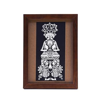 タナカマコト tanakamacoto/切り絵「タダのカミ様」額装作品 148×210mm(1種)