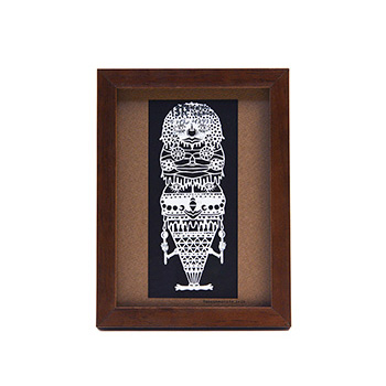 タナカマコト tanakamacoto/切り絵「タダのカミ様」額装作品 130×180mm(6種)