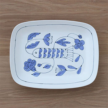 Pebble Ceramic Design Studio 石原亮太/レクタングルプレート 1点もの(4種)