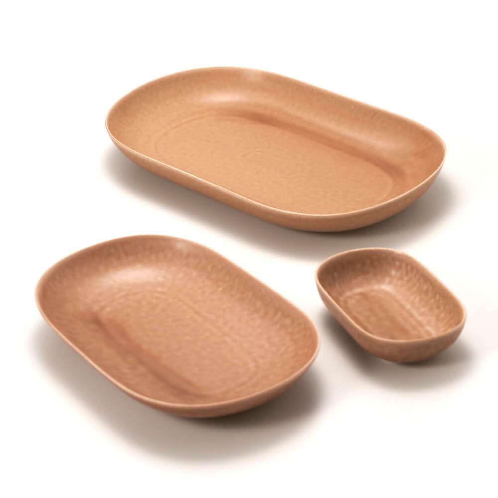 イイホシユミコ yumiko iihoshi porcelain/「ReIRABO リイラボ」oval plate オーバルプレート warm soil brown(S・M・L)